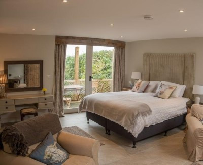 Interior: The Garden Room bedroom in Riseholme Gorse, Grange de Lings, LINCOLN LN2 2LY