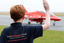 Red Arrows Image publicising Jon Egging Trust
