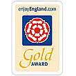 The Gold Award symbol from Visit England.com