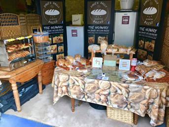 Image here: a bread display by Dave's Daily Bread