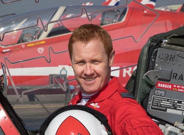 Photograph: Exterior. Day. Summer. Portrait of, Royal Air Force Aerobatic Team Leader - Red 1 - Squadron Leader Martin Pert.