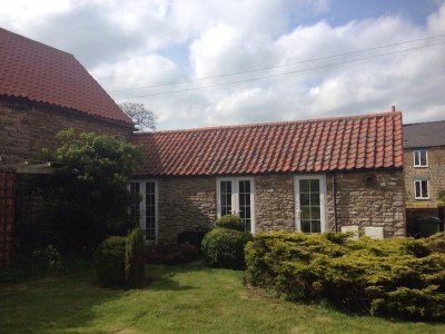 Exterior. Day. Summer. The Cottages Scampton – STUDIO COTTAGE. Self Catering accommodation in Scampton, Lincolnshire, U.K.